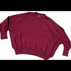 Free people oversized maroon sweater medium